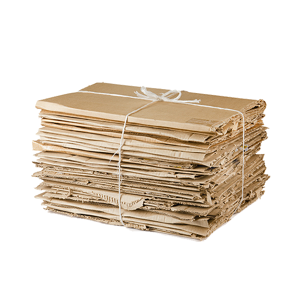 Stack of clean and flattened corrugated cardboard boxes like the type used for shipping.