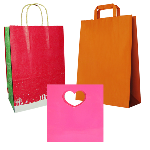 Paper gift bags like the type used for hostess gifts, birthdays and other special occasions.
