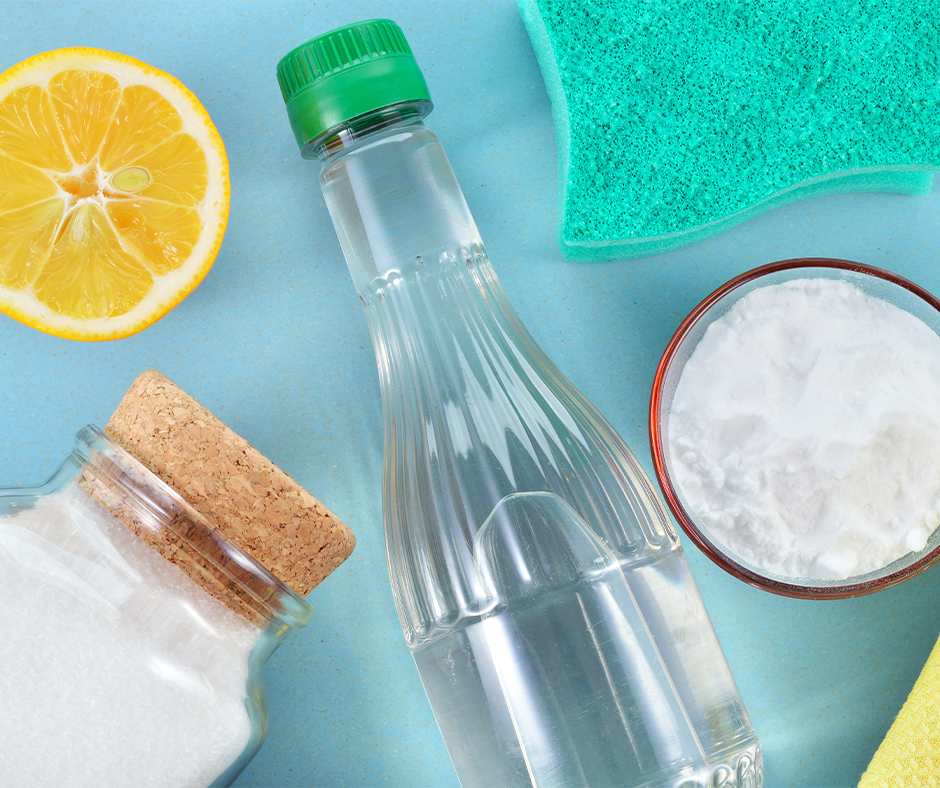 Natural alternatives, like lemon, to use in sustainable spring cleaning