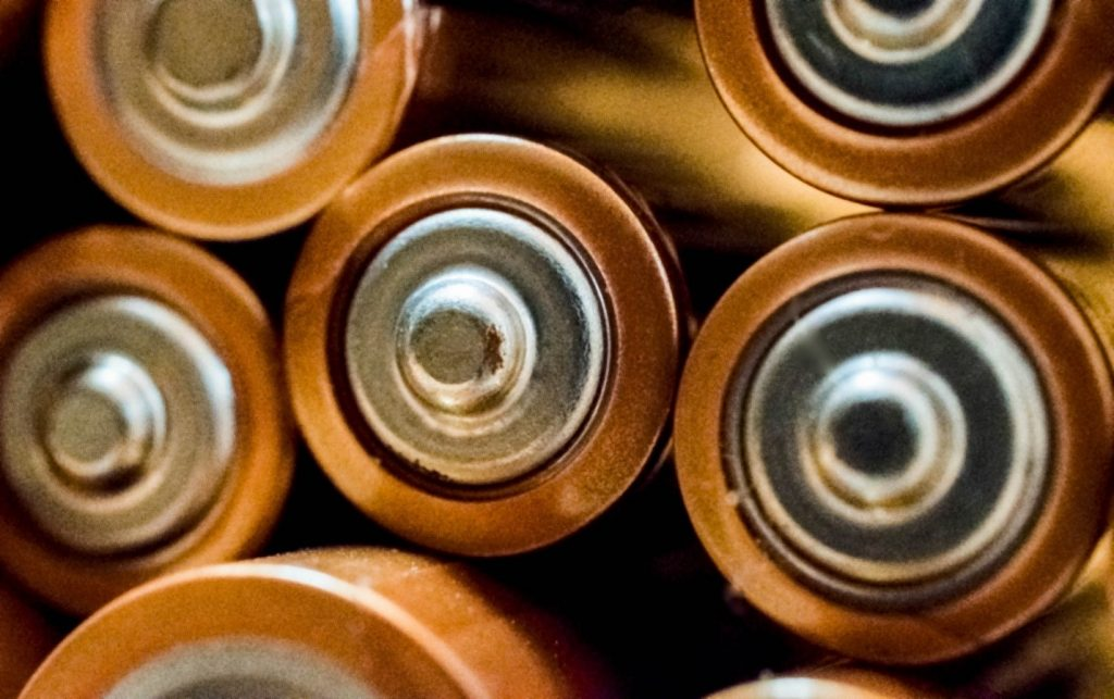 Close Up of Lithium-Ion batteries
