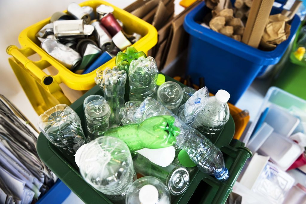Plastic recycling in the home