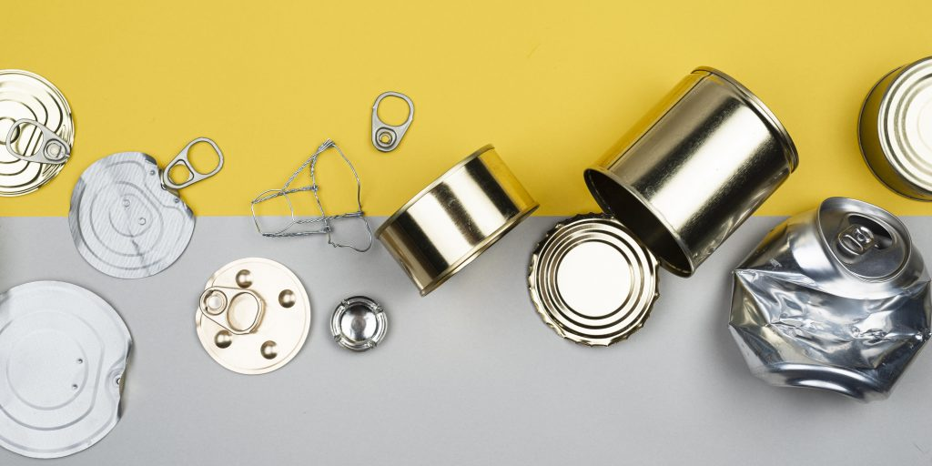 aluminum and steel cans